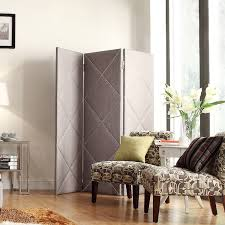 INSPIRE Q Altgeld Grey Linen Diamond Detail 3-Piece Divider - Overstock  Shopping -