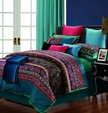 Egyptian cotton stripe purple green comforter bedding set king ... & Egyptian cotton stripe purple green comforter bedding set king size queen  silk satin praisley duvet cover Adamdwight.com