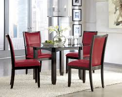 luxurious trise dining upholstered red side chair set of 2 from ashley d550 04 red