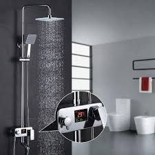 Optimaler Badezimmer Duschset 3 Wege Brausesets Homelody Mit Lcd Display Temperatur Anzeige Und Dusche Zeit Online Günstig
