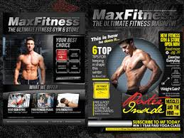 Max Fitness Flyer & Magazine Cover Template By Sherman Jackson ...