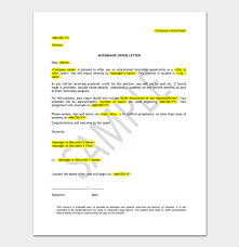 Letter Format For Internship Application Internship Appointment Letter 17 Letter Samples Formats