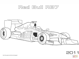 Small Picture Red Bull Rb7 Formula 1 Car coloring page Free Printable Coloring