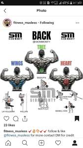 Back Workout Wings Tree Heart Beast Mode Gym Workouts