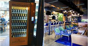 Champagne Vending Machine Inspiration This Lounge In Vancouver's Yaletown Has A Champagne Vending Machine