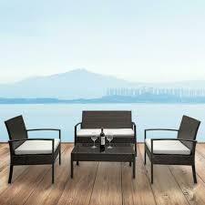 outdoor patio furniture rattan set