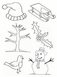 Kleurplaat Thema Winter Knutselopdrachtennl