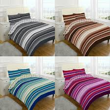 details about stripes luxury duvet covers quilt covers reversible bedding sets all sizes by nz