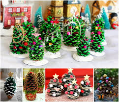 Pine Cone Christmas Tree Craft Project  Christmas TreePine Cone Christmas Tree Craft Project