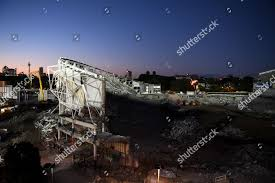 Light Demolition Work General View Demolition Allianz Stadium Sydney New Editorial
