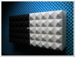 2019 new arrival white color pyramid acoustic foam 50x50x8cm acoustic studio soundproofing foam sound absorption foam wall panels for rooms from