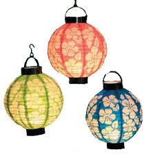 Light Up Paper Lanterns Paper Light Up Hibiscus Lantern Set 3 Pc