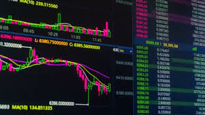Cryptocurrency Price Charts Bitcoin Cryptocurrency Price Chart Going Up And Down On Digital Market Exchange