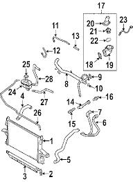 parts com® volvo xc90 radiator components oem parts 2004 volvo xc90 2 5t l5 2 5 liter gas radiator components