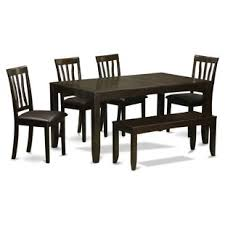 lockmoor 6 piece extendable solid wood dining set