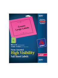 67,138 results for color labels. Avery 5975 Color Full Sheet Labels Office Depot