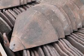 item reclaimed hand made clay weathered bonnet roof tiles