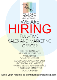 Jobs Hiring Without Resume Sales and Marketing Officer Job Hiring PinoyJobsph 82