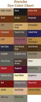 Porsche Leather Dye Porsche Color Chart Auto Leather Dye