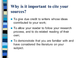 references bibliography for the ib extended essay ppt  2 why