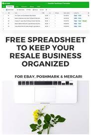 Poshmark Tracking Free Ebay Spreadsheet For Inventory Poshmark Mercari Too