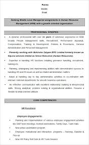Hr Resume Templates Interesting 48 HR Resume Templates DOC Free Premium Templates