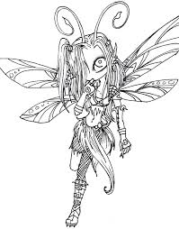 Printable Gothic Fairy Coloring Pages With Fairy Coloring Pages