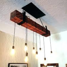 wood beam chandelier lighting rustic fixture with lights reclaimed light 8 barn in decor 2