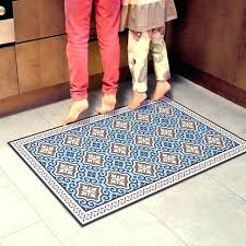 vinyl kitchen mat vinyl area rugs blue kitchen mat with tiles printed on a linoleum rug floor backed throw woven vinyl kitchen mats