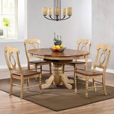 sunset trading 5 piece brook pedestal dining set with napoleon chairs