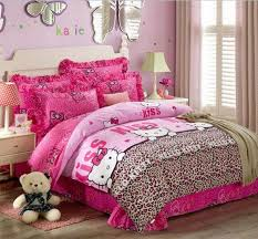 hello kitty bedroom set for teenagers. Brown Curtain And Furniture Hello Kitty Bedroom For Teenagers Set