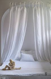White Bed Canopy, Linen Bed Canopy, Canopy Bed Curtains, Bed Canopies, Sheer Bed Canopy, Girls Bed Canopy, Linen Curtains, Sheer Linen Panel