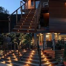 led deck rail lights. Solar Led Deck Step Lights @4 Pack Powered Outdoor Light Torchstar Rail