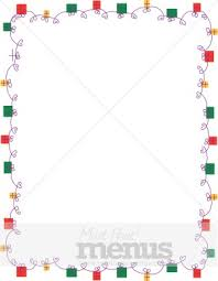 christmas menu borders party gifts page border christmas menu borders