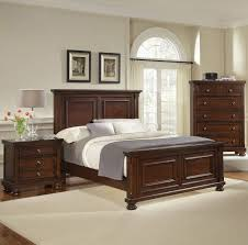 Mansion Bedroom Furniture Reflections Queen Mansion Bed Dark Cherry By Virginia House