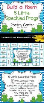 Build A Poem 5 Speckled Frogs Pocket Chart Center