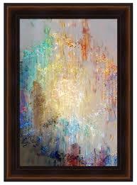 abstract canvas art framed format framed modern wall art heart so big cianelli