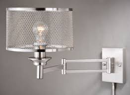 vaxcel lighting w0259 polk 1 light swing arm sensor wall light in satin nickel with gray
