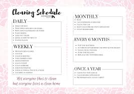 Free Printable Cleaning Schedule And Checklist Nonagon Style