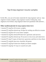 Mep Engineer Resume Perfect Resume