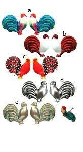 Drawer Rooster Cabinet Ceramic Kitchen Knobs Pull Pulls Decor Home ...