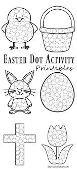 Easter Dot Activity Printables Dot Markers Easter Activities For