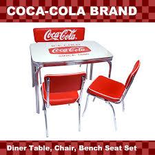 american diner coca cola brand coca cola brand diner table chair bench seat 4 piece set pj 600dl pj 105c 2 pj 120c