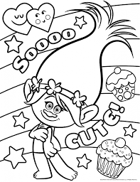 Trolls Movie Coloring Pages | Movies and TV Show Coloring Pages ...