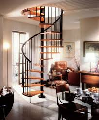 the gamia wood spiral stair