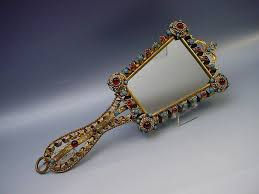 hand holding antique mirror. Antique Hand Mirrors. A00178 1l Mirrors Home Design Fabulous Austrian Jeweled Mirror 11 Holding S