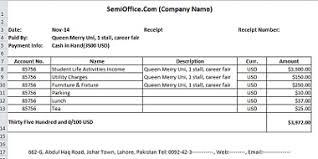 Payment Receipt Template Excel Printable Receipt Template