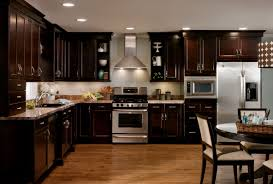 dark cabinets kitchen. Image Of: Dark Hardwood Floors With Cabinets Inspirations Kitchen R