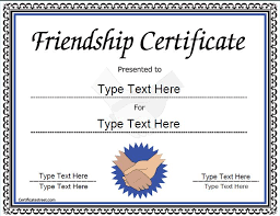 Cooking Certificate Template Cool Special Certificate Friendship Certificate CertificateStreet