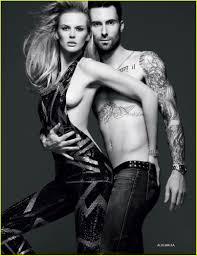 Adam Levine Anne V Nude on Vogue Russia Cover Anne.